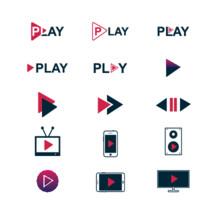 Play logos concept vector