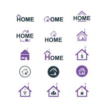 Home logos concept vector