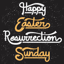 Happy Easter, Resurrection, Sunday, Easter, hand drawn lettering, text
