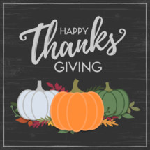 happy thanksgiving script post background vector graphic