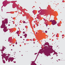 red and orange ink splatter
