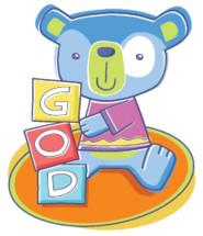 teddy bear with building blocks