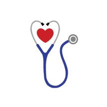 stethoscope, heart, medicine, icon
