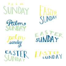 Palm Sunday, Easter Sunday