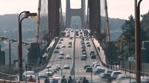 Golden Gate bridge car Traffic, San Francisco