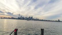 Toronto skyline via boat