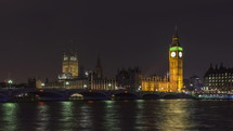 The Thames and Big Ben London at night