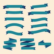 Modern ribbon banner vectors.