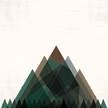 abstract mountains illustration.