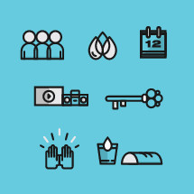 church essentials icon set