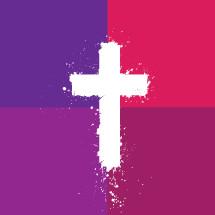 cross paint splatter