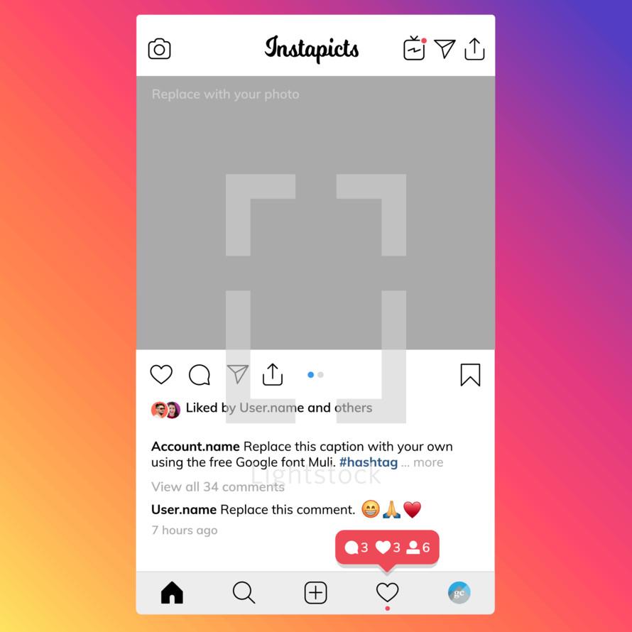 Instagram style social post mockup template