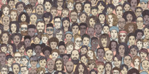 diverse faces in a crowd