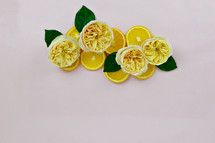 lemons and yellow roses