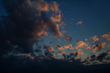 Intense Clouds Forming At Dusk