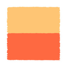 The yellow and red paint brush stroke is drawn by hand. Paintbrush drawing on canvas. Hand-drawn brushstroke beige and orange texture on paper. Square shape. Rectangle shape. The graphic element saved as a vector illustration in the EPS file format for used in your design projects.