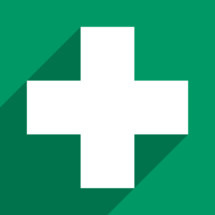 first aid symbol in flat design style