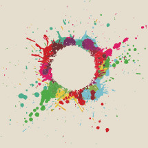 paint splatter circle graphic.