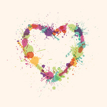 painted splattered heart illustration.