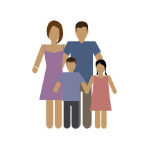simple family vector illustration.