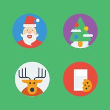 santa, deer, reindeer, milk and cookies, Christmas, Christmas tree