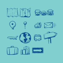 14 travel and direction illustrations to help you communicate.