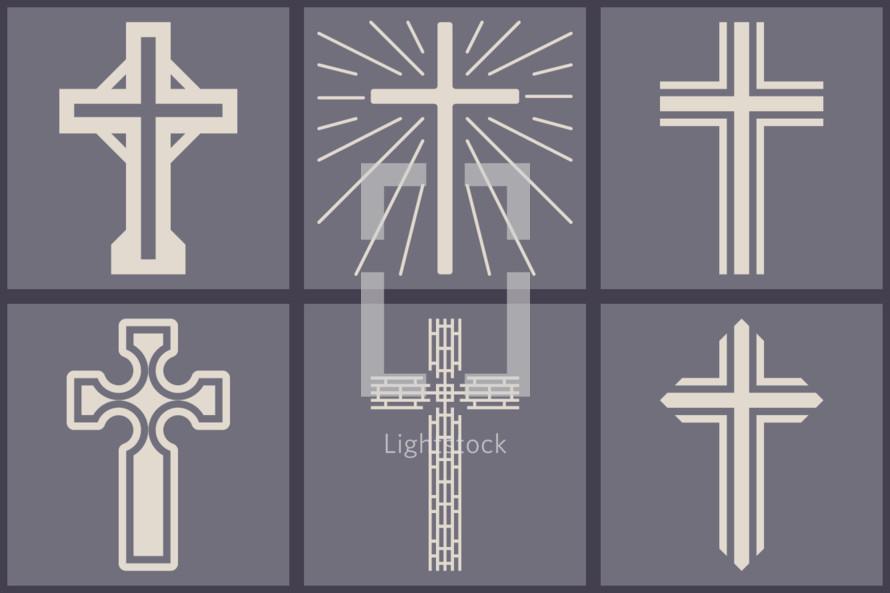 flat cross graphics