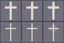 flat cross graphics