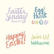 Easter Sunday March 27th, Happy Easter!, Join Us!, Welcome, Egg Hunt, Easter eggs, Easter, words, lettering