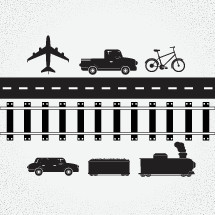 A collection of vectors based around transportation.