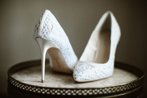 white high heels shoes