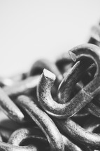 Broken chain link.