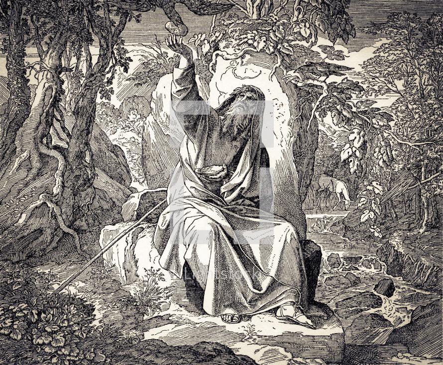 Elijah Fed by Ravens, 1 Kings 17:1-6