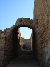 Ancient archway at Caesarea