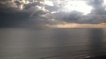 clouds over the ocean timelapse