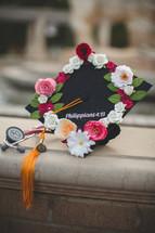 graduation cap with Philippians 4:13