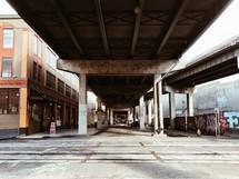 under an overpass