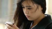 texting teen girl