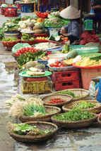 Early morning Vietnamese street Market
