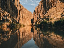 river at the bottom of a canyon