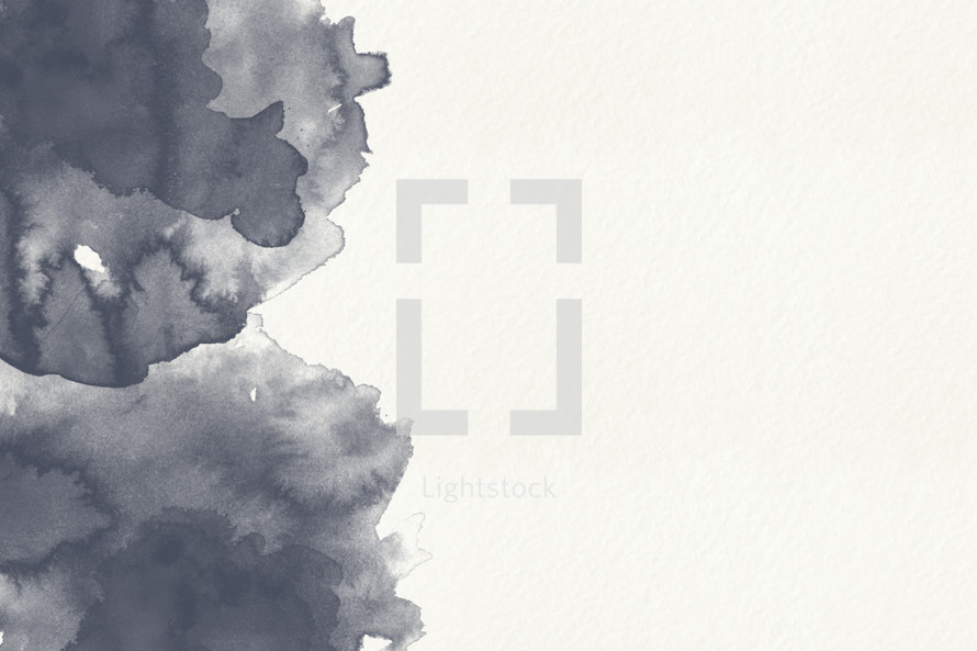grey water color on white