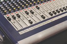Audio soundboard for worship or media team