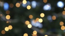 bokeh white Christmas lights