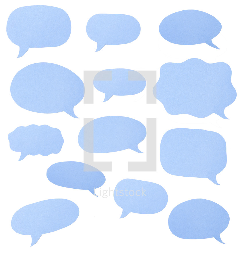 empty speech bubbles