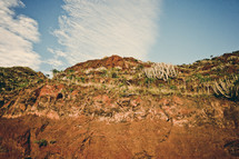 mountainside cliffs in Teneriffa, Spain