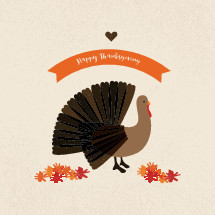 Happy Thanksgiving turkey illustration.