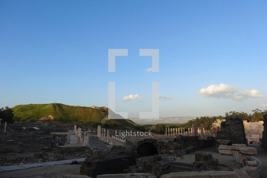 The mound of Beth Shan & ruins of a Decapolis city