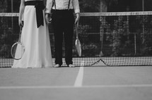 tennis and formal wear