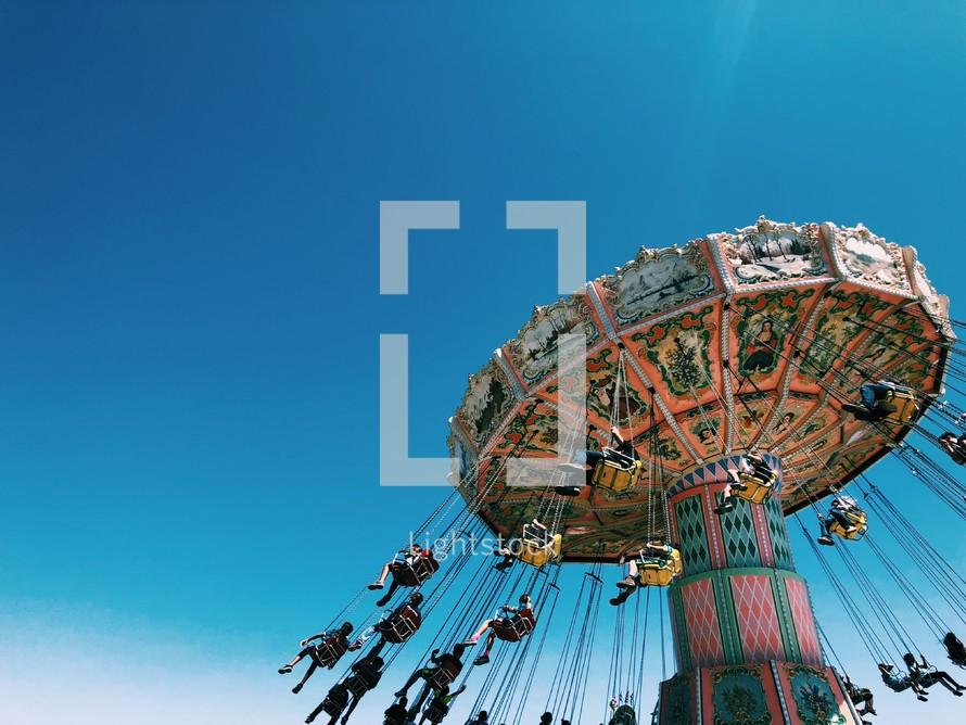swinging chair ride at a fair