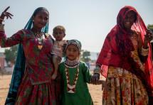 women and children in India